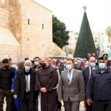 الدخول الرسمي لحارس الأراضي المقدسة الى مدينة بيت لحم وسط قيود فيروس كورونا