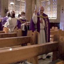 Gethsemane in prayer: Mass in reparation of arson attack