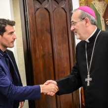 Patriarch Pizzaballa welcomes delegation of Real Madrid Foundation