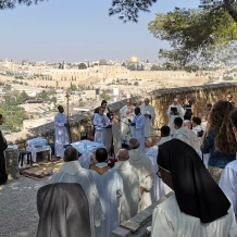 Blessing of Abraham's House after three years of renovation