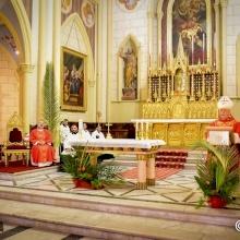 Célébration du dimanche des Rameaux à la co-cathédrale du Patriarcat latin