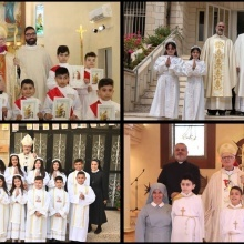 Latin Patriarchate parishes celebrate Sacraments of Holy Communion and Confirmation