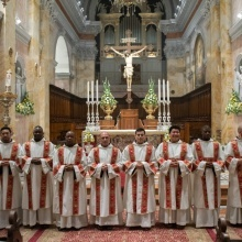 Ordination of twelve new deacons in St. Saviour's Church