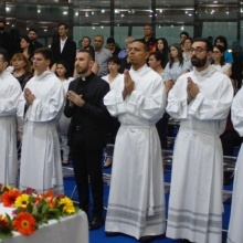 A joyous day at the Redemptoris Mater Seminary: Six new ministers and a newly admitted ad ordines