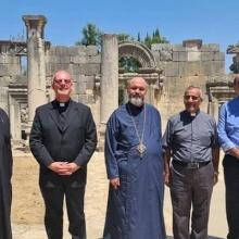 Le Conseiller de la Nonciature Apostolique visite des villages chrétiens dépeuplés en Galilée
