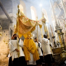 Corpus Christi celebrated at Holy Sepulchre with very few faithful