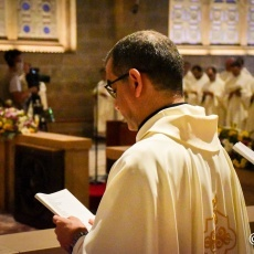 Messe Chrismale célébrée à la Basilique de Toutes-Les-Nations à Gethsémani