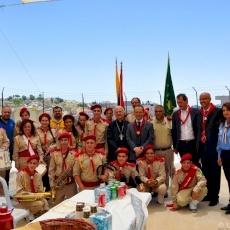 Le Consul général d'Italie visite le 3ème projet de logement solidaire et le Centre des Scouts Catholiques