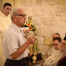 Jifna parish celebrates golden jubilee of priestly ordination of Fr. Elias Michel Odeh