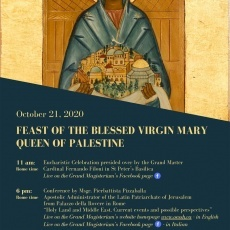 """Live Conference """"Holy Land and Middle East. Current events and possible perspectives"""""""