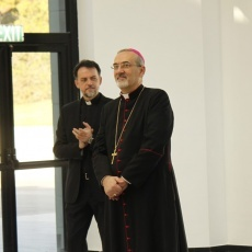 His Beatitude Pierbattista Pizzaballa on his first visit as Patriarch to Redemptoris Mater Seminary