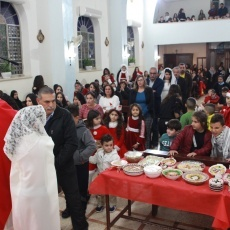 رعية مريم أم الأوجاع في عابود تحتفل بعيد القديسة بربارة الشهيدة