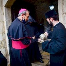 Première visite du Patriarche Pizzaballa aux Patriarcats grec orthodoxe et arménien