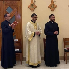 Latin Patriarchal Seminarian Yousef Haddad invested to Soutane and instituted as lector