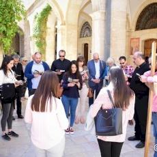 Procession de la Via Dolorosa dans la Vieille Ville de Jérusalem
