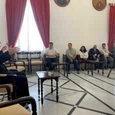 البطريرك بيتسابالا يستقبل المجموعة الأولى من الحجاج الأمريكيين