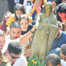 A Deir Rafat si celebra la solennità della Beata Vergine Maria, Regina della Palestina