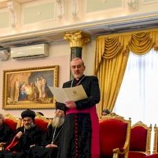 رؤساء كنائس القدس يقدّمون تهاني عيد الميلاد المجيد في بطريركية القدس للروم الأرثوذكس