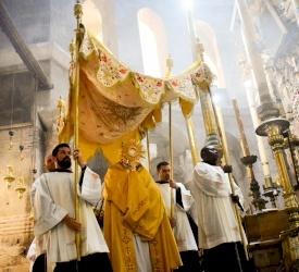 Le Corpus Christi célébré en petit nombre au Saint-Sépulcre