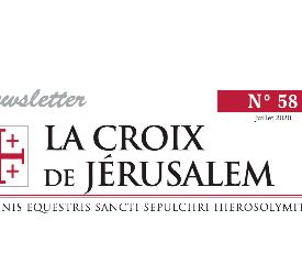 Newsletter La Croix de Jérusalem