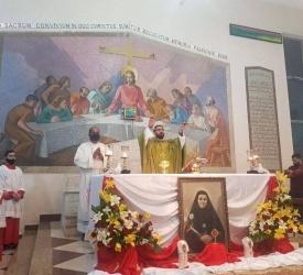الاحتفال بعيد القديسة برتيلا في رعية الرسل في الزرقاء الشمالي