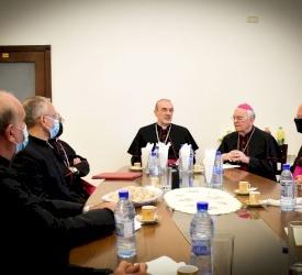 البطريرك بييرباتيستا بيتسابالا يتسلم مهام سلطته الرسمية في بطريركية القدس للاتين