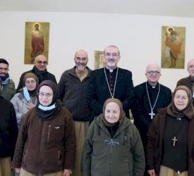 البطريرك بيتسابالا في زيارة إلى رعية اللاتين ودير ماعين وجبل نيبو في مادبا