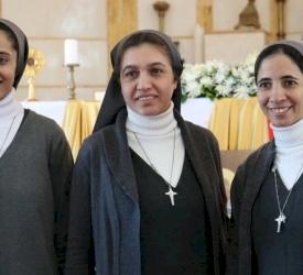 إبراز النذور الدائمة لثلاث راهبات من رهبنة مار يوسف للظهور في مرج الحمام