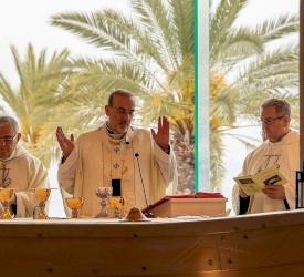 Célébration de la fête de Sainte Marie-Madeleine à Magdala