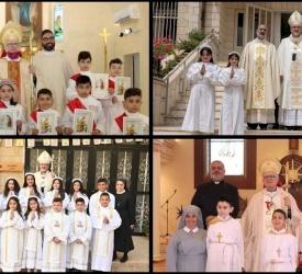 Les Paroisses du Patriarcat latin célèbrent les Sacrements de Première Communion et de Confirmation