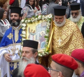 Orthodox celebration of the feast of the Annunciation in Nazareth