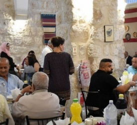 Muslims and Christians gathered at the Abraham's House for iftar