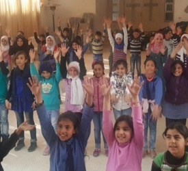 """Syrian refugees in Mafraq: """"the true face of the Church is not afraid of anything."""""""