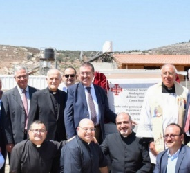 Work on the Jaffa of Nazareth Patriarchate School inaugurated by the new Governor of the Order