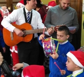 Distribution of gifts for children with disabilities in Bethlehem