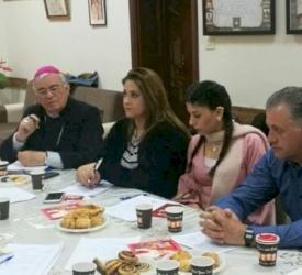 المكتب الرعوي يواصل عمله حول مسيرة العائلات المسيحية في الأبرشية