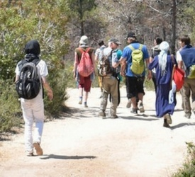 50 pilgrims walk in the footsteps of the disciples of Emmaus to meet Christ