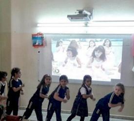 New computer equipment at Saint Joseph School in Nablus