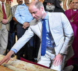 Prince William visits the Basilica of the Holy Sepulcher