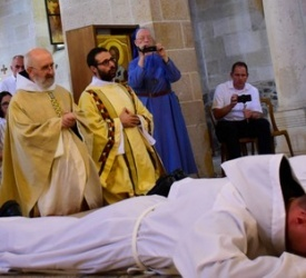 Two German Benedictines ordained deacons at Church of Multiplication of the Loaves in Galilee