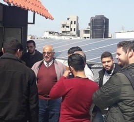 Islamic University of Gaza students on Solar system educational visit at Latin Patriarchate School