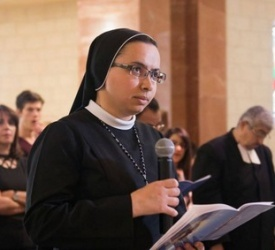 Sr. Christina Masarweh of Rosary Sisters professes perpetual vows in Jerusalem