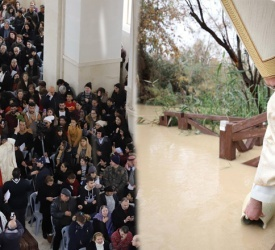 Baptism Site: Faithful converge from East and West to meet in the river