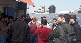 ١٥ طالباً من الجامعة الإسلامية بغزة في زيارة تعليمية لمدرسة البطريركية اللاتينية