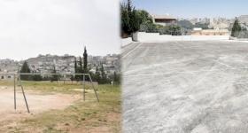 Un nouveau terrain de sport et de jeu pour l'école du Patriarcat latin de Naour en Jordanie