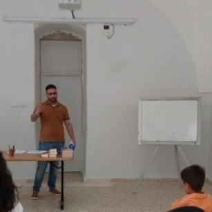 New Christian education room in use at Latin Patriarchate school in Aboud