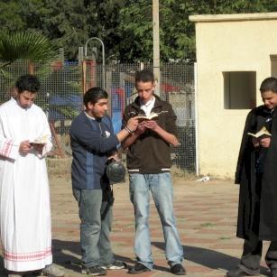 Spiritual Retreat for students in Christian schools in Jerusalem during Lenten season 2007