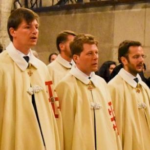 تنصيب أربعة فرسان للقبر المقدّس لخدمة الأرض المقدسة