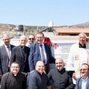 وضع حجر الأساس في مدرسة البطريركية في يافة الناصرة بحضور الحاكم العام الجديد لجمعية فرسان القبر المقدس