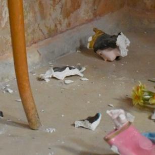 Des vandales profanent l'église Saint-Etienne de Beit Gemal